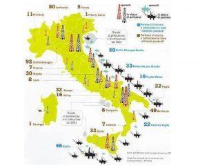 La mappa delle trivelle 'italiane'